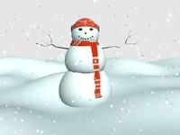 snowman snow 3d x