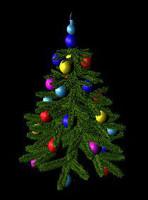 ma decorated christmas tree
