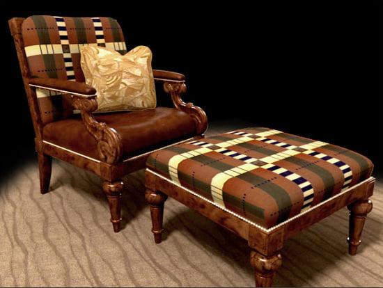 3d model chair ottoman