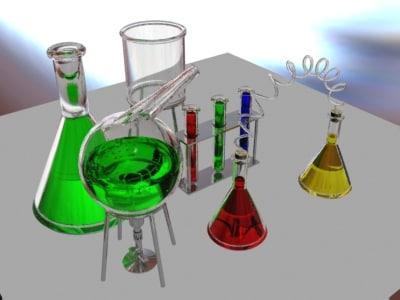 lab equipment test tubes 3d model