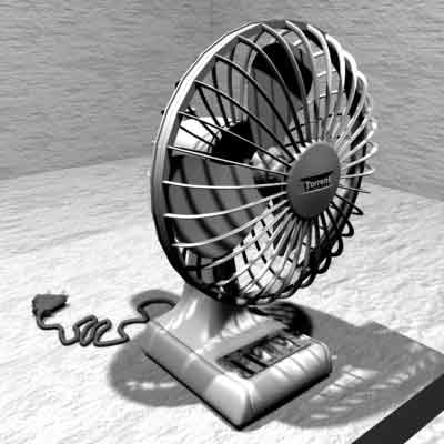 fan photorealistic 3d max