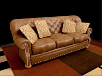 leather couch 3d max
