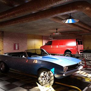 garage classic 3d model