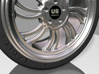 cool wheel tire 3d max
