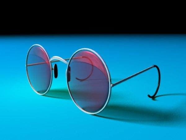 3d john lennons glasses