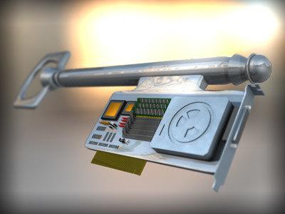 key technology 3d model