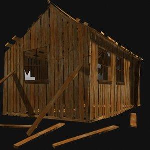 3d model old shack