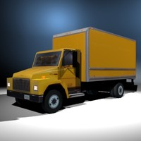 3d model cargo delivery truck