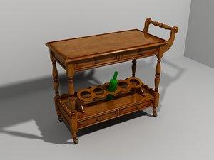 3ds max serving trolley