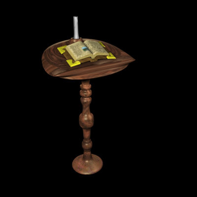magic book stand candle 3d max