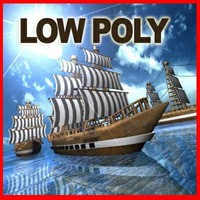 Galeon Low Poly