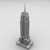 High-Poly Empire State Building