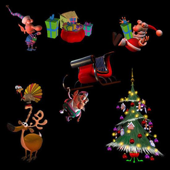 3d model christmas poser santa elf