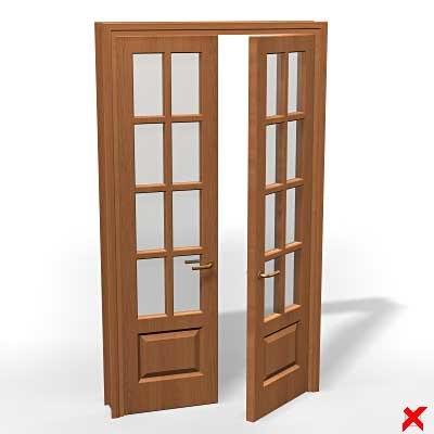 3d ma glass door