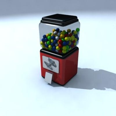 maya gumball machine