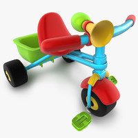 tricycle toy wheels 3d model