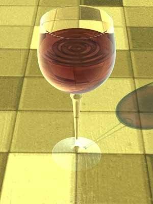 lwo wine glass