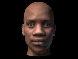 negro head 3d model