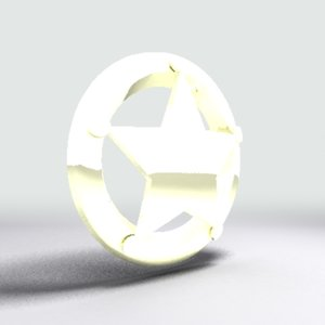 3ds max sheriff badge