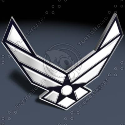 3d usaf shield model