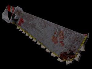 3d model chain sword