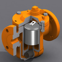 steam traps valve modeled 3d model