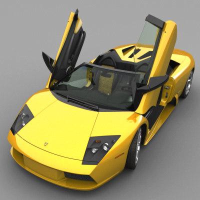 lamborghini murcielago roadster 3d model