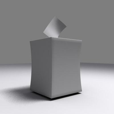 3d voting box