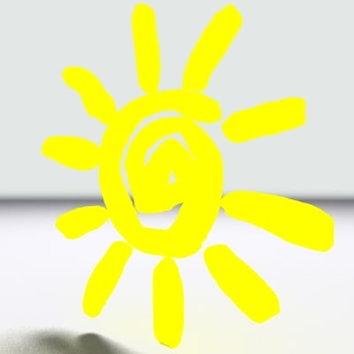 3d iconic sun model