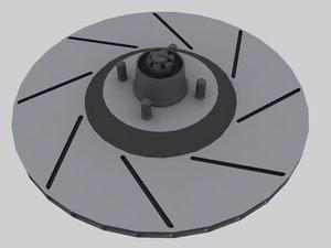 3d brake disk rotor model