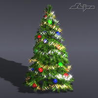 christmas tree lite 3d model