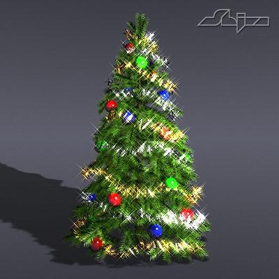 christmas tree lite 3d model
