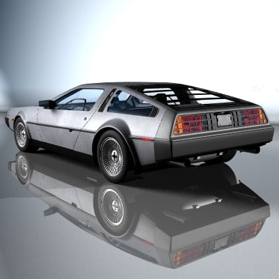 delorean car automobile 3d model