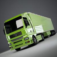 man tga trailer 3d model
