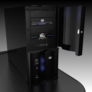 computer case wavemaster 3d model
