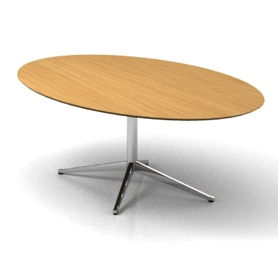 3d model florence knoll oval table