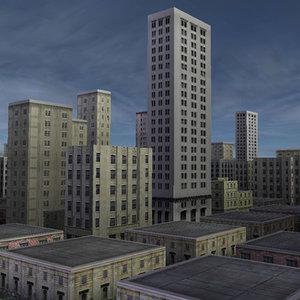 city urban 3d model