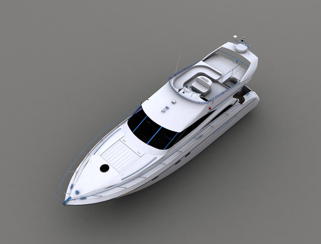 luxury motor yacht 3ds