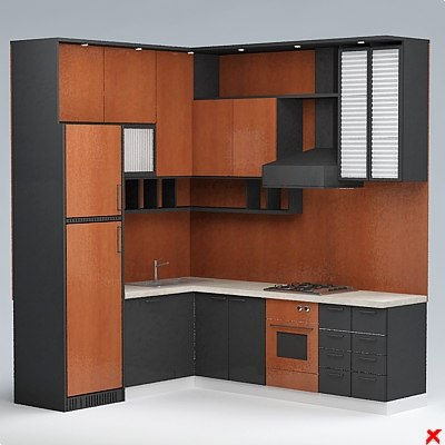 3d ma kitchen cabinet table