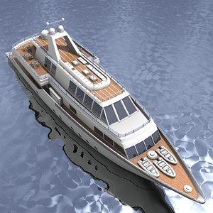 3d model ship motorboat