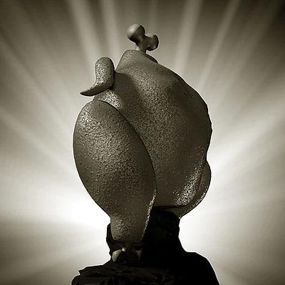 chicken toon 3d model