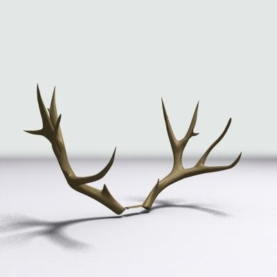 deer antlers fbx