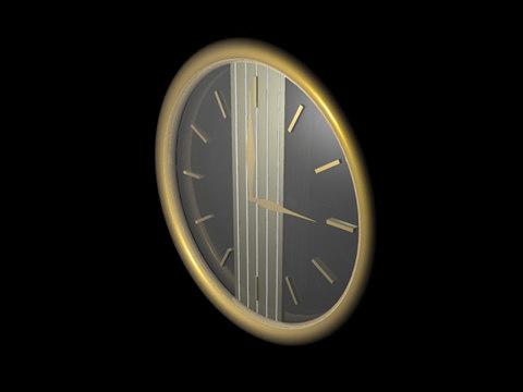 clock 3d 3ds
