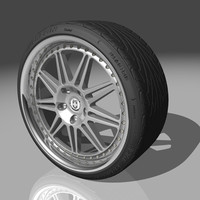 hre 441 wheel tires 3d model