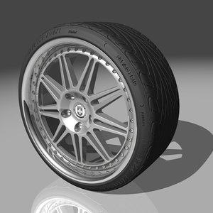 hre 441 wheel tires 3d model