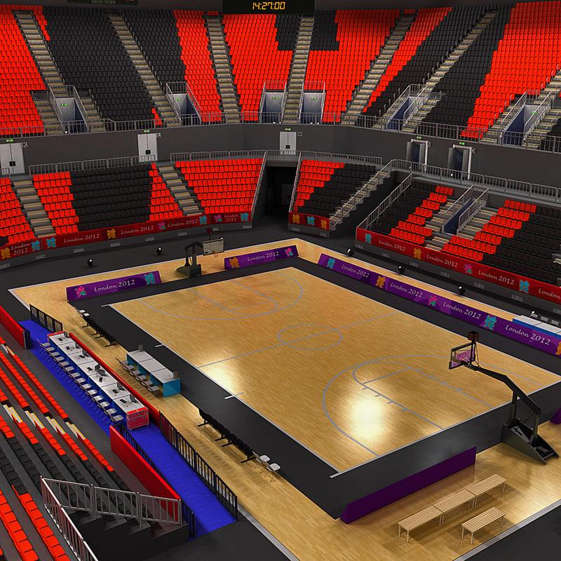 basketball arena london 3d model