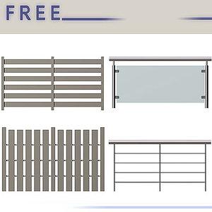 free fences railings 3d model