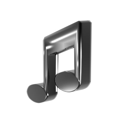 3ds max music note double
