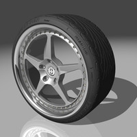 hre 445 wheel tires 3d model