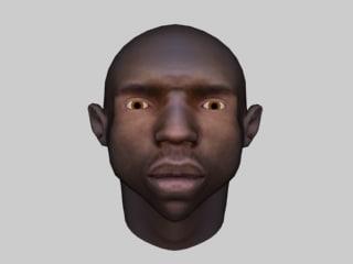 black male head 3d model